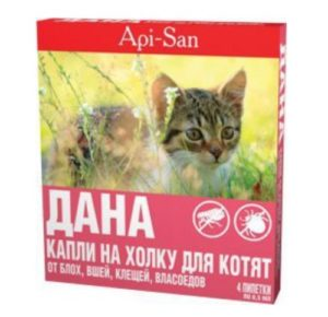 Капли от блох для кошек и клещей Дана