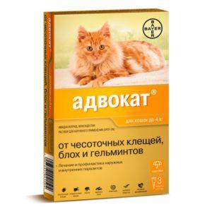 Капли Адвокат от блох для кошек
