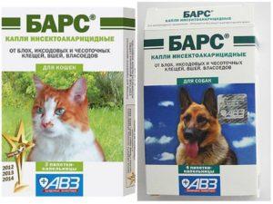 Капли Барс для кошек и собак: эффективность, показания, способ применения